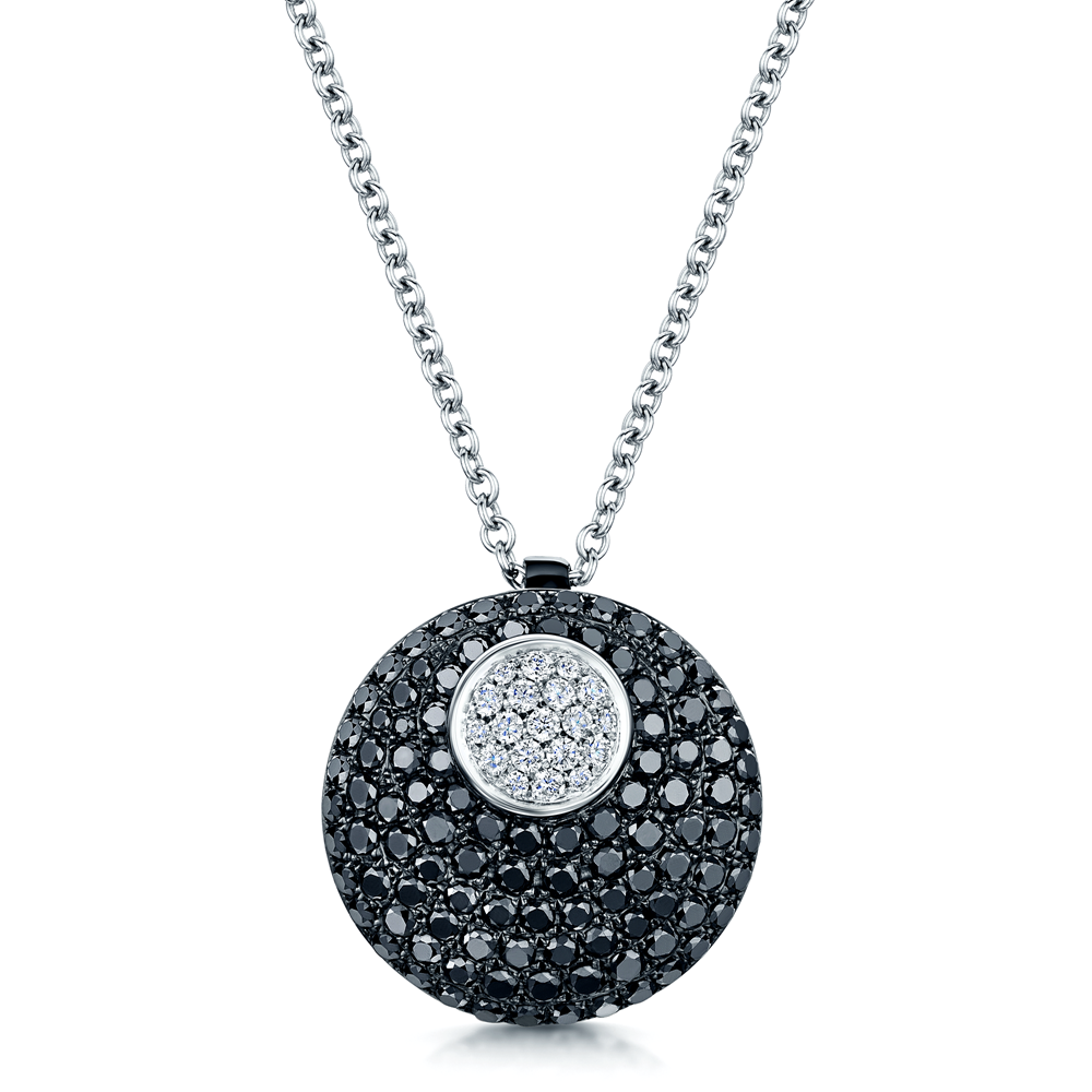 white gold fancy silver in ravishing pendant solitaire dazzling prong sterling black jewelry diamond nl wg round set