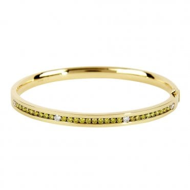 Berry's 18ct Yellow Gold Bangle With Yellow Diamonds