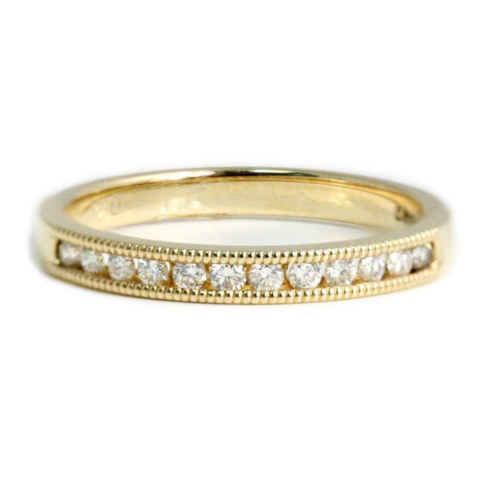 Berry S 18ct Yellow Gold Channel Set Diamond Wedding Ring
