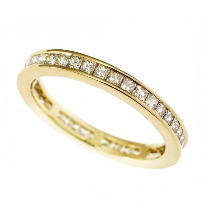 Berry S 18ct Yellow Gold Channel Set Diamond Full Eternity