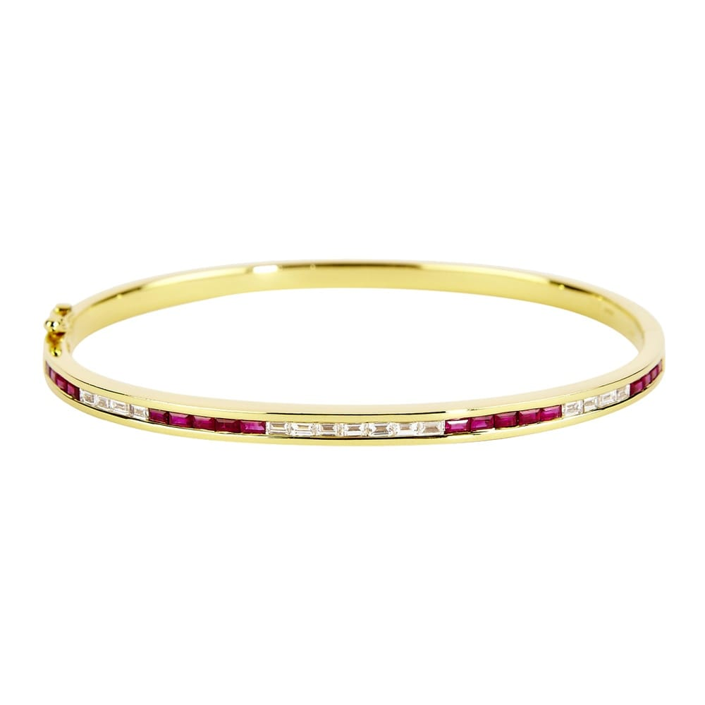 thin diamond box yellow pin accents and bangles gold closure with bangle clasp bracelet