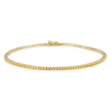 18ct Yellow Gold Yellow Sapphire Tennis Bracelet