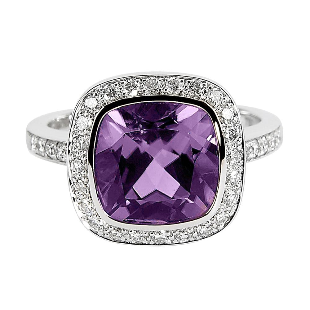 Berry S Amethyst And Diamond Dress Ring By Berry S Jewellers