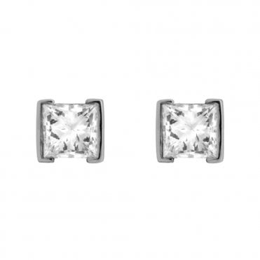 Berry's Demi Rubover Princess Diamond Stud Earrings