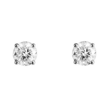 Berry's Everyday Classics 18ct White Gold 0.75ct Diamond Stud Earrings