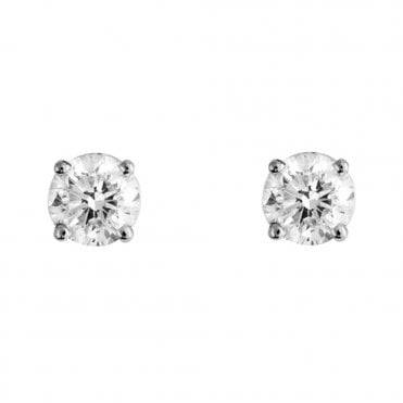 Berry's Everyday Classics 18ct White Gold 1.00ct Diamond Stud Earrings