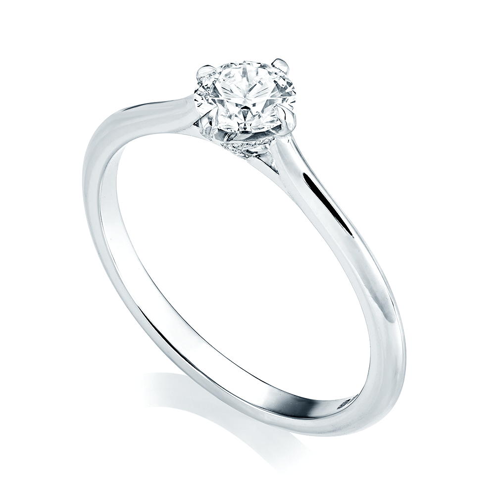 product with organic designed star ring band engagement pierced solitaire a diamond
