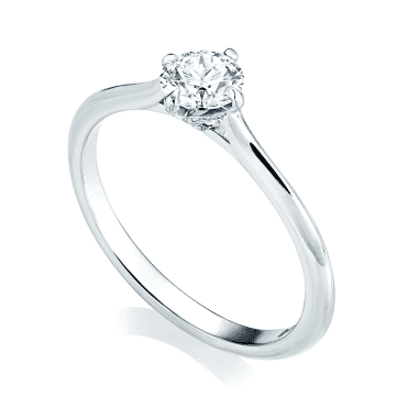GIA Certified Platinum Set Solitaire Diamond Engagement Ring