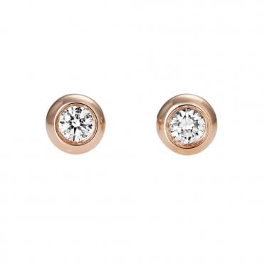 Berry's Lucia 18ct Rose Gold Diamond Stud Earrings