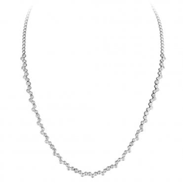 Berry's Lucia 18ct White Gold and Brilliant Cut Diamond Set Necklet
