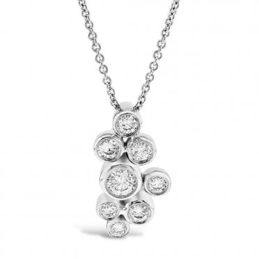 Berry's Lucia 18ct White Gold Diamond Set Drop Necklace