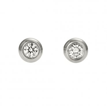 Berry's Lucia 18ct White Gold Diamond Stud Earrings