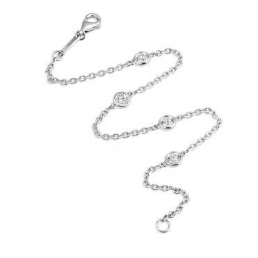 Berry's Lucia 18ct White Gold Fine Chain Link Diamond Bracelet