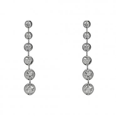Lucia 18ct White Gold Graduating Diamond Earrings