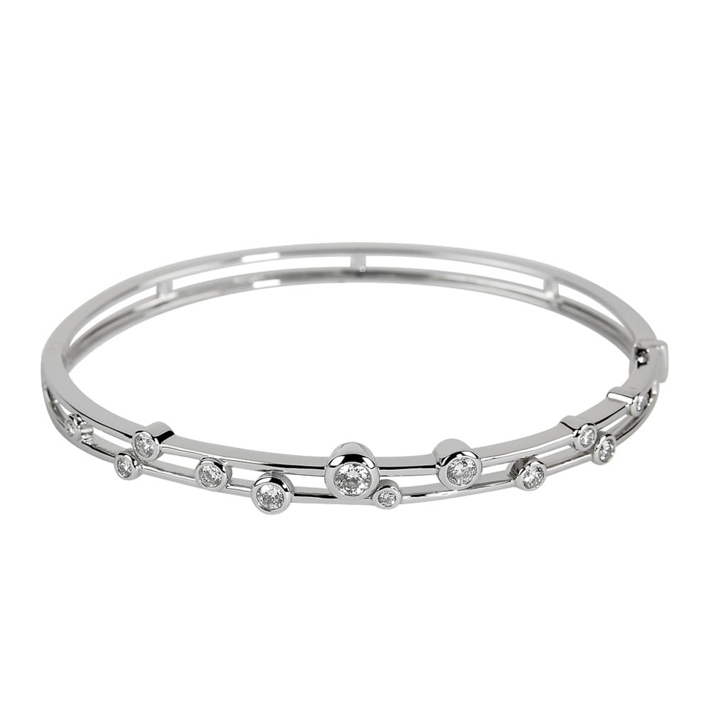 Gold White diamond bangles recommend to wear for on every day in 2019