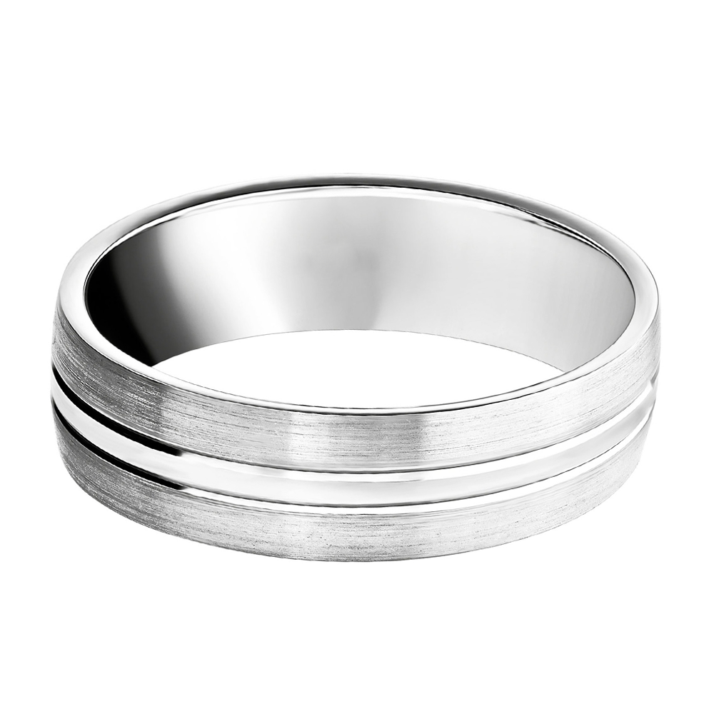 finish modern platinum mens men wedding g band simon s brushed product