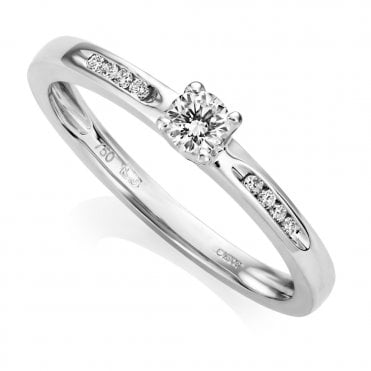 Berry's Petite Collection 18ct White Gold Single Stone Claw Set Diamond Ring