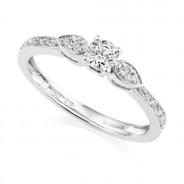 Petite Collection 18ct White Gold Three Stone Diamond Ring