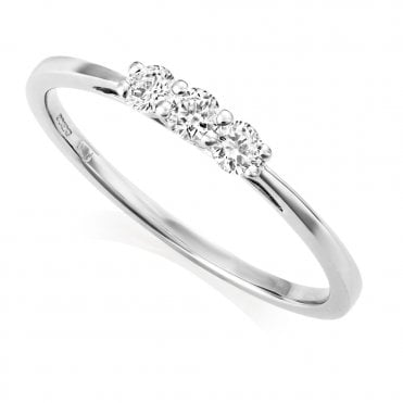 Berry's Petite Collection 18ct White Gold Three Stone Diamond Ring