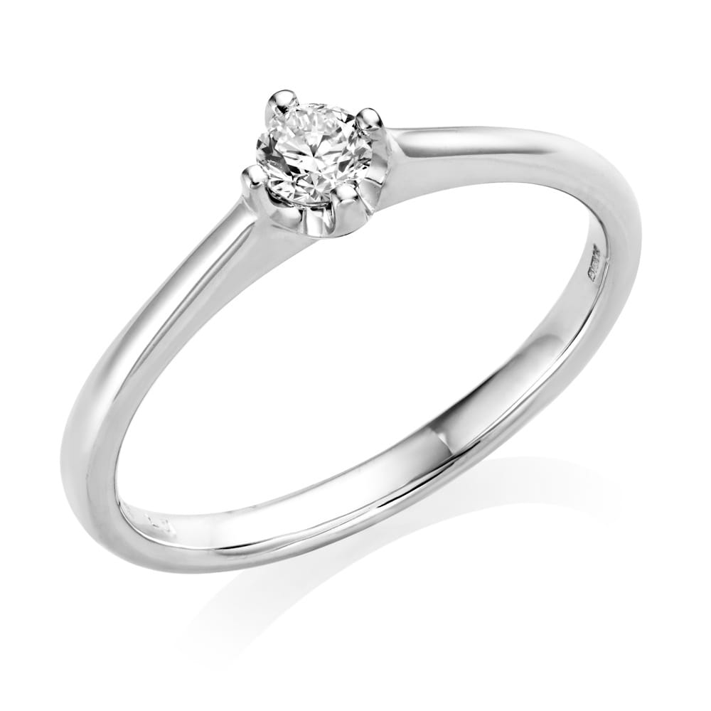 Berry's Petite Collection White Gold Single Diamond ...