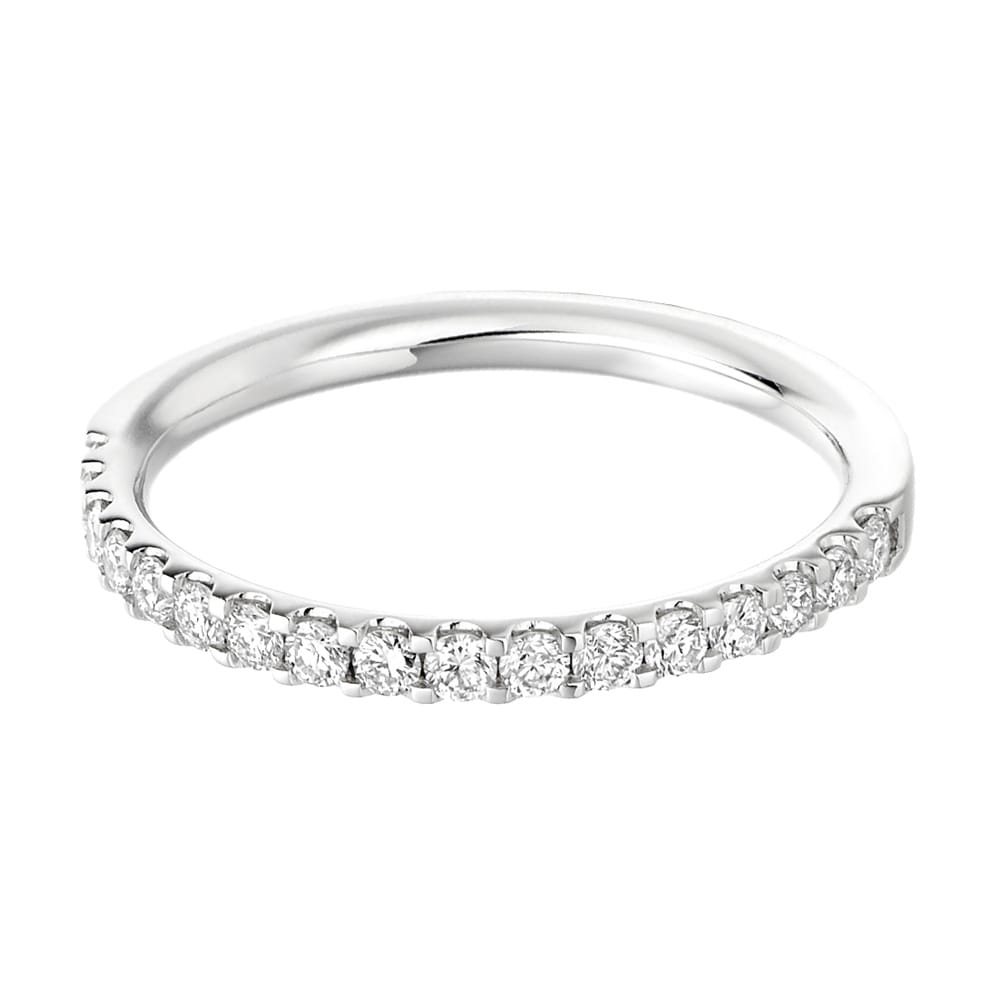 Platinum 17 Stone Half Set Diamond Wedding Ring From Berry