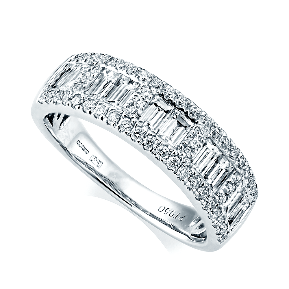Berry S Platinum Baguette Amp Brilliant Cut Diamond Ring