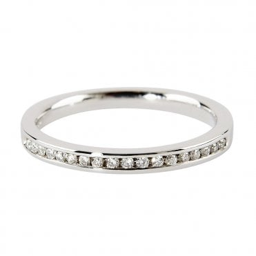Berry's Platinum Brilliant Cut 18 Stone Channel Set Eternity Ring 0.15ct