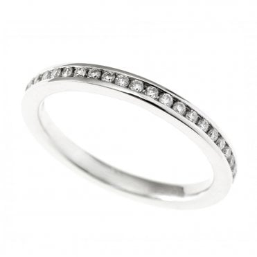 Berry's Platinum Channel Set Round Brilliant Cut Diamond Full Eternity Ring 0.40ct
