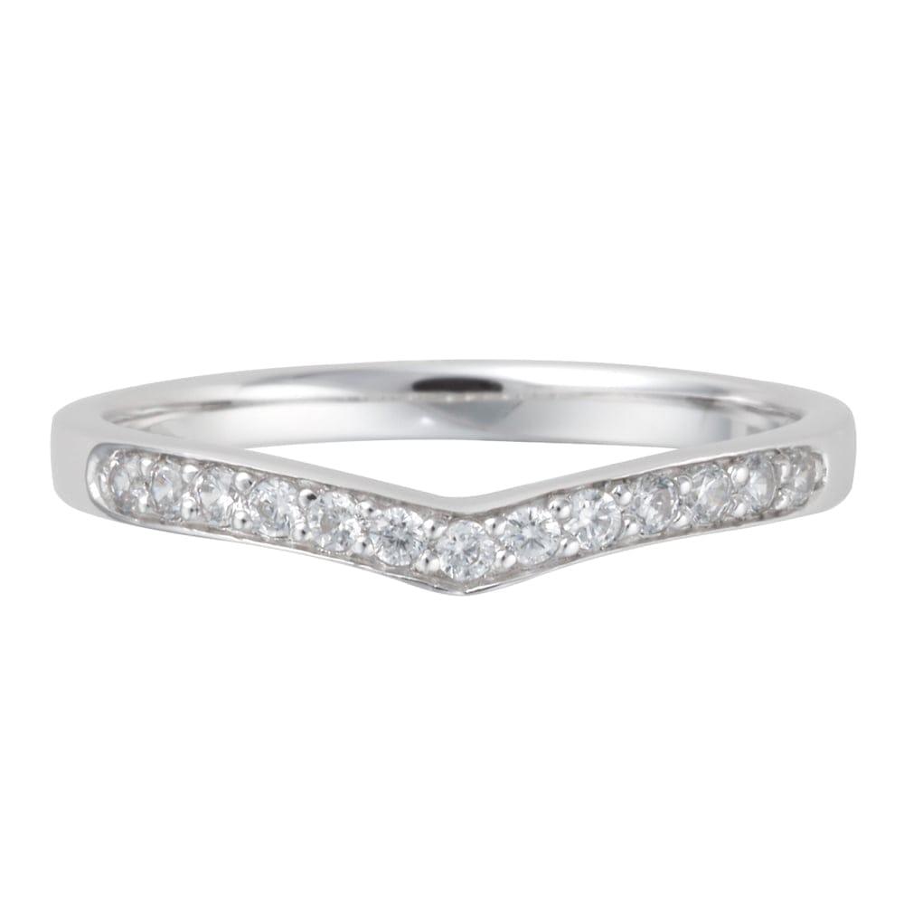Platinum Diamond Wishbone Shaped Wedding Ring From Berrys Jewellers