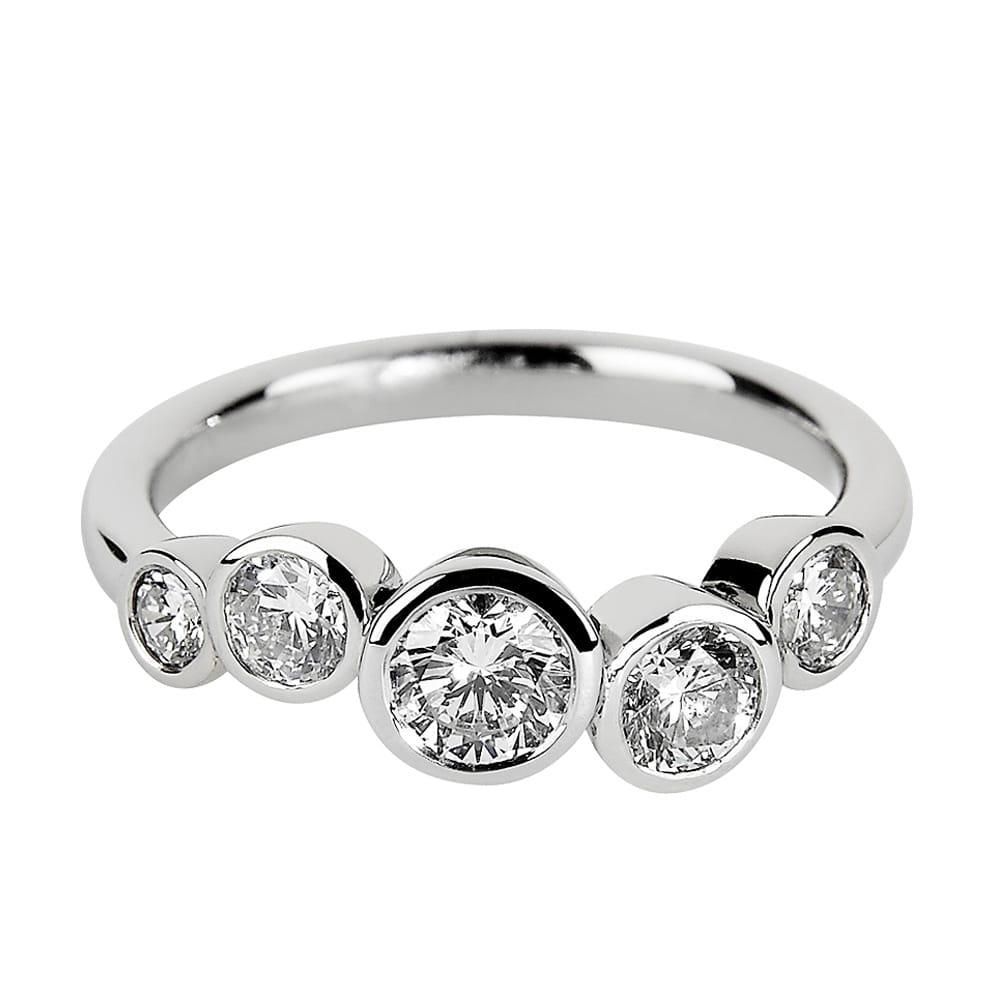 Platinum Five Stone Diamond Set Dress Ring From Berry S