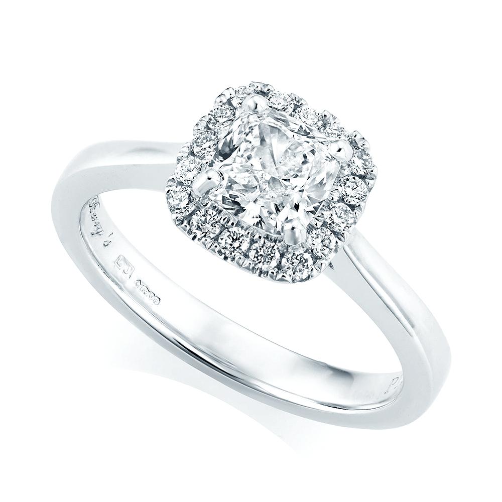 Platinum Engagement Rings Sale Uk: Berry's Platinum GIA Certified Cushion Shape Diamond