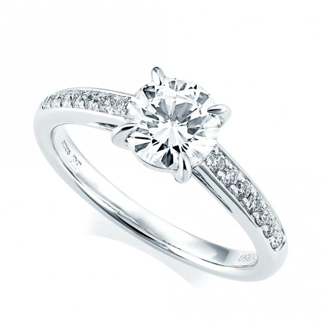 Platinum Engagement Rings Sale Uk: Berry's Platinum GIA Certified Diamond & Pave Set