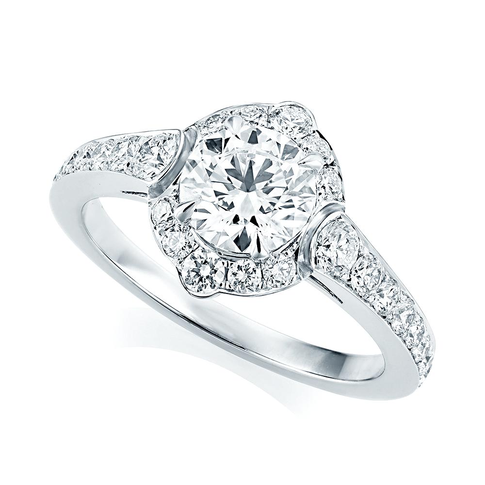 Platinum Engagement Rings Sale Uk: Berry's Platinum GIA Certified Diamond & Shoulder Set