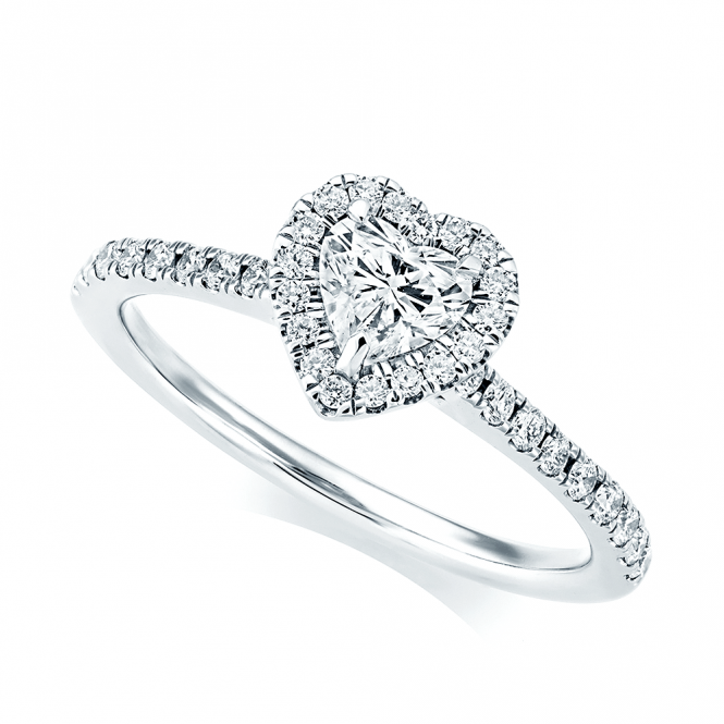 Engagement Ring Memorial Day Sale: Berry's Platinum Heart Shape Diamond & Surround Engagement