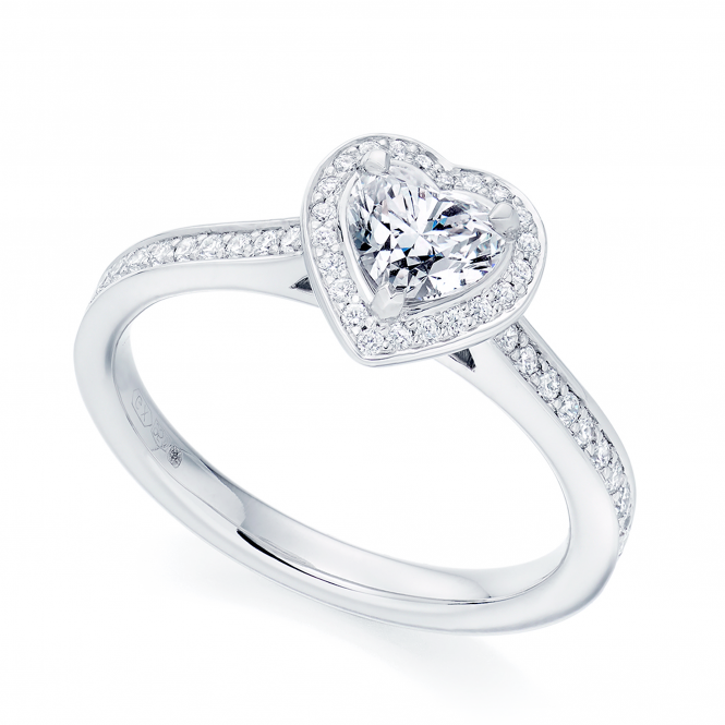 Platinum Heart Shaped Diamond Engagement Ring From Berry's