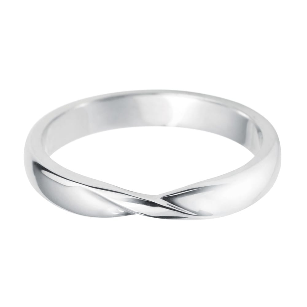 Platinum Ladies Ribbon Twist Shaped Wedding Ring At Berrys Jewellers