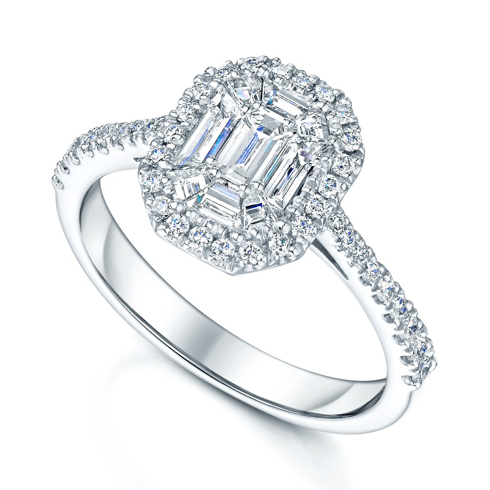 Platinum Multi Cut Diamond Ring From Berry's Jewellers