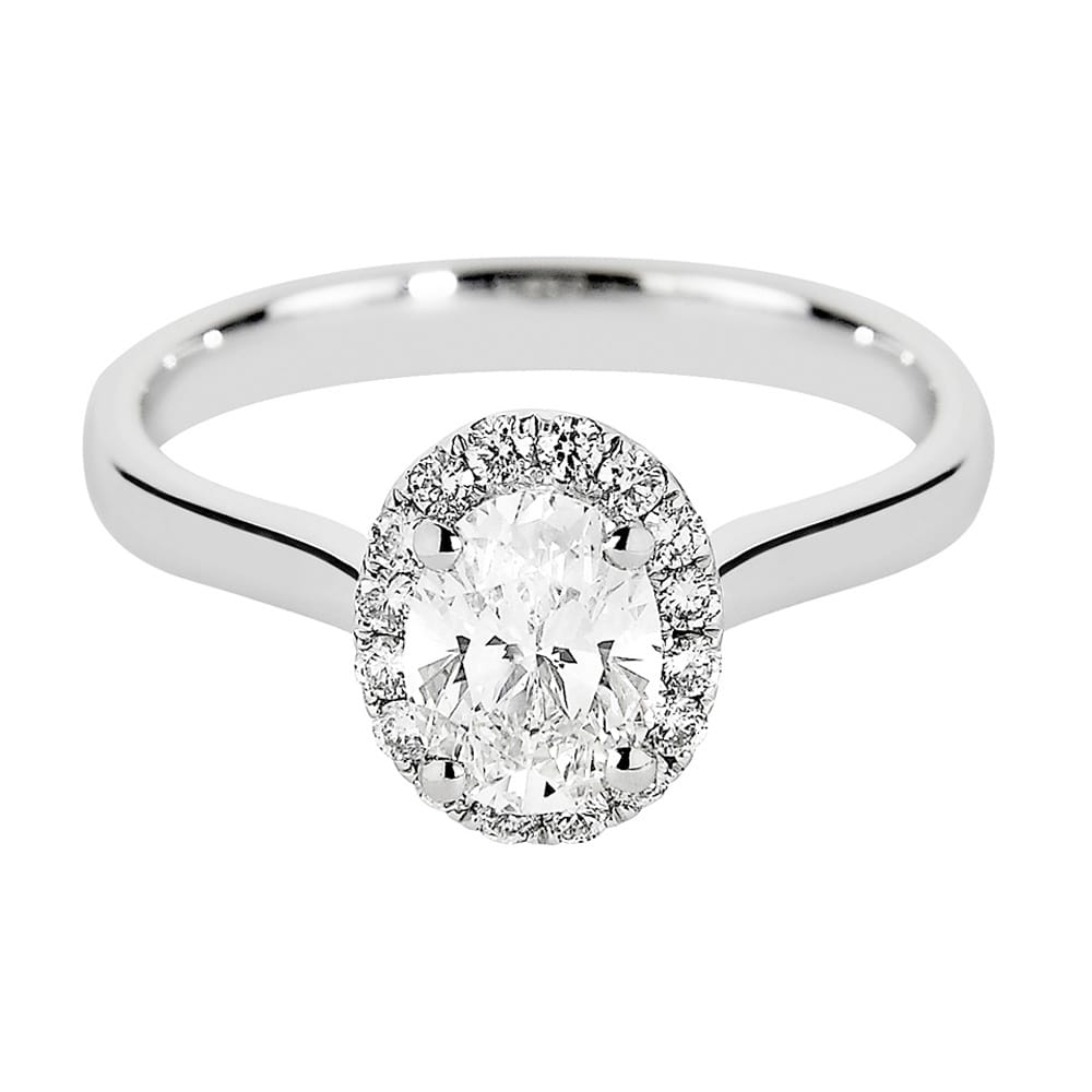 wedding halo ring engagement platinum promise in diamond cut rings oval