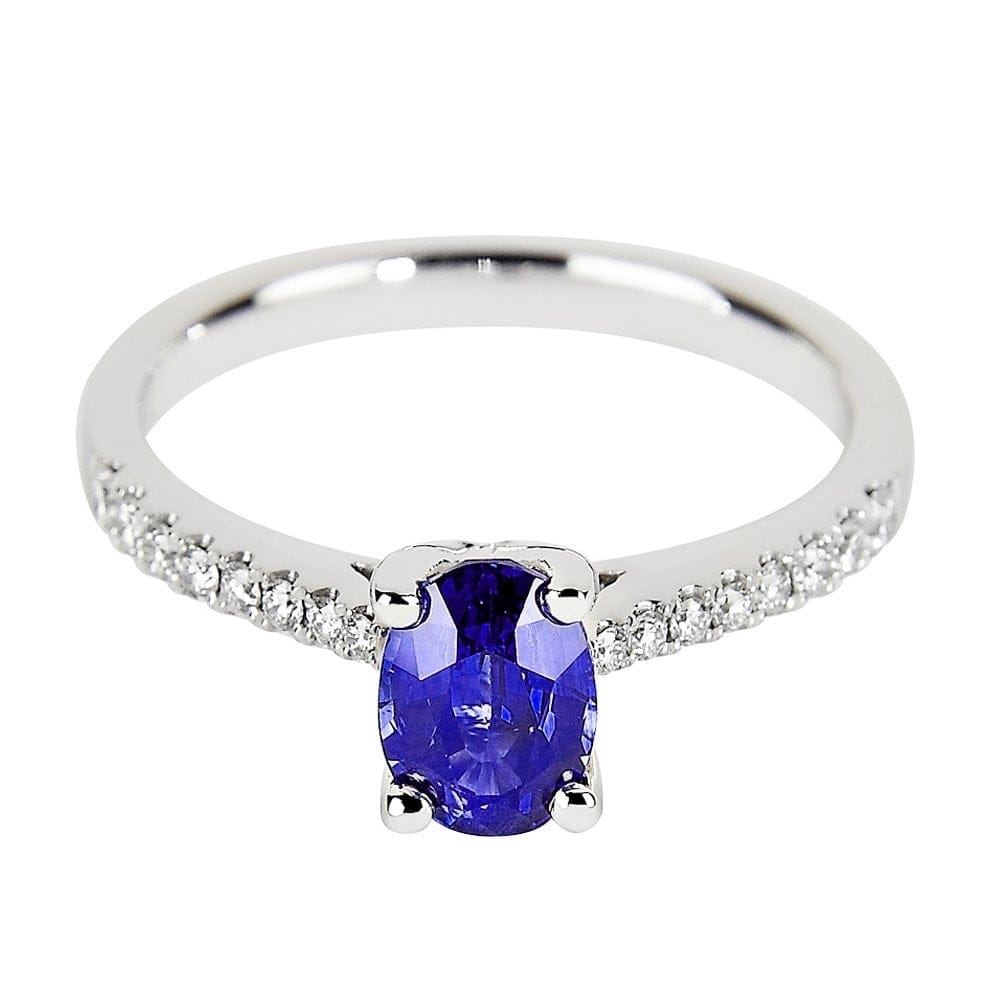 wedding rings pave white tanzanite gold diamond engagement oval products ring
