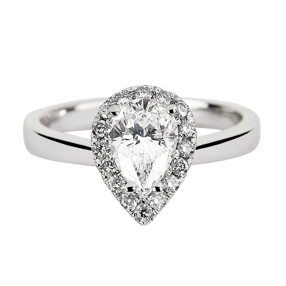 pear diamond double benzdiamonds rings engagement ct halo products ring shaped