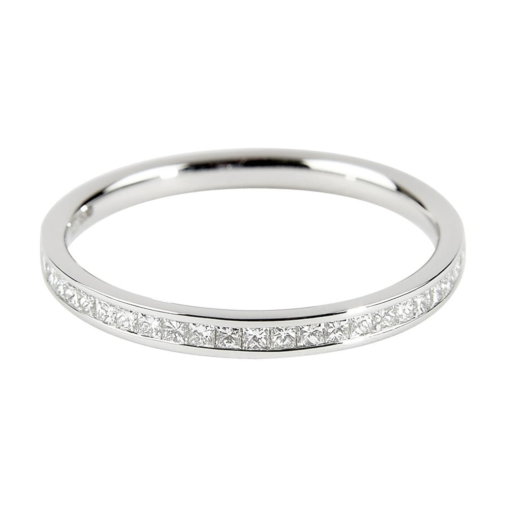 berry s platinum princess cut channel set half eternity