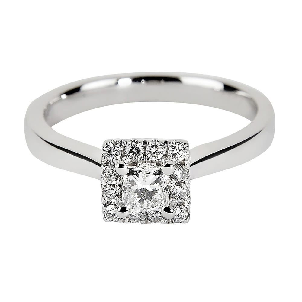 ct twt square g set engagement rings d h cut gold white certified ring diamond halo prong in