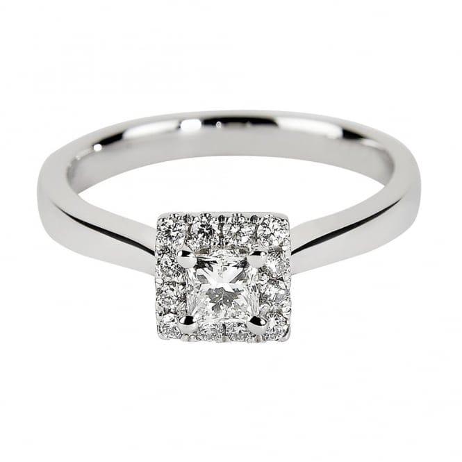 Princess Cut Gia Certified Diamond Amp Diamond Surround