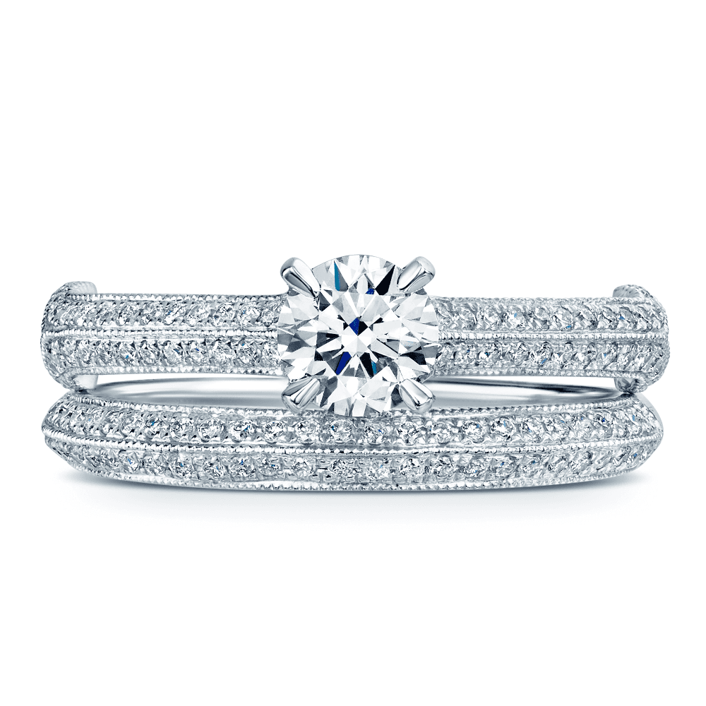 Platinum Round Brilliant Diamond Engagement And Wedding