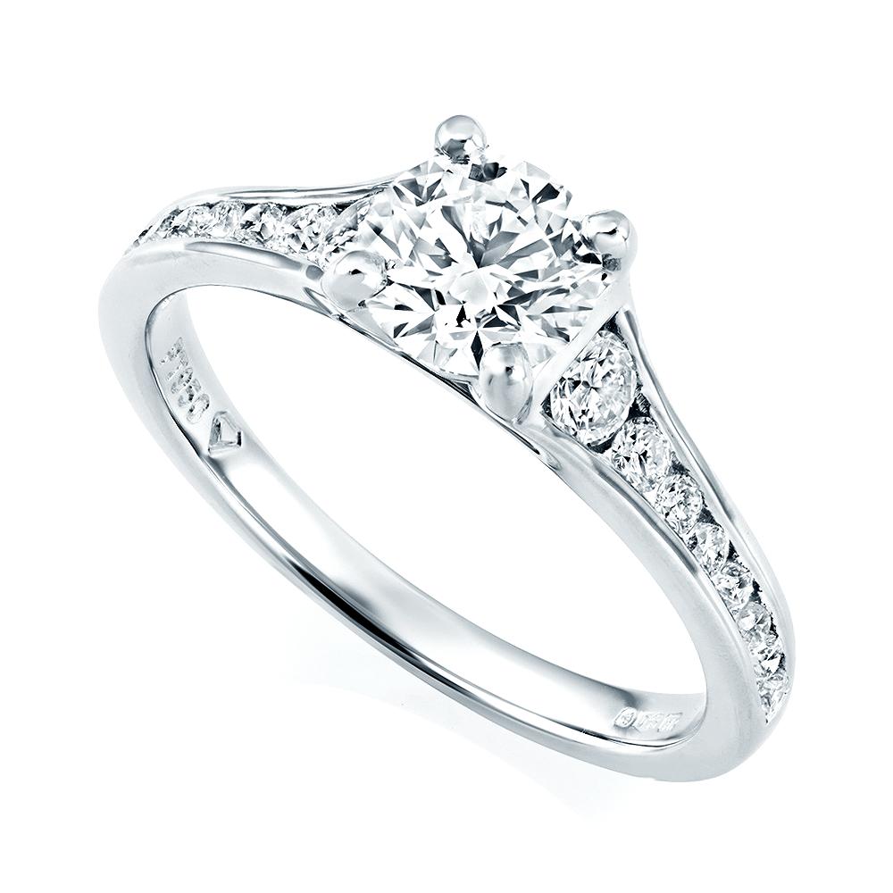 Platinum Engagement Rings Sale Uk: GIA Certified Platinum Set Diamond Engagement Ring From