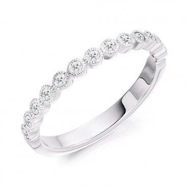 Platinum Set Diamond Half Eternity Ring
