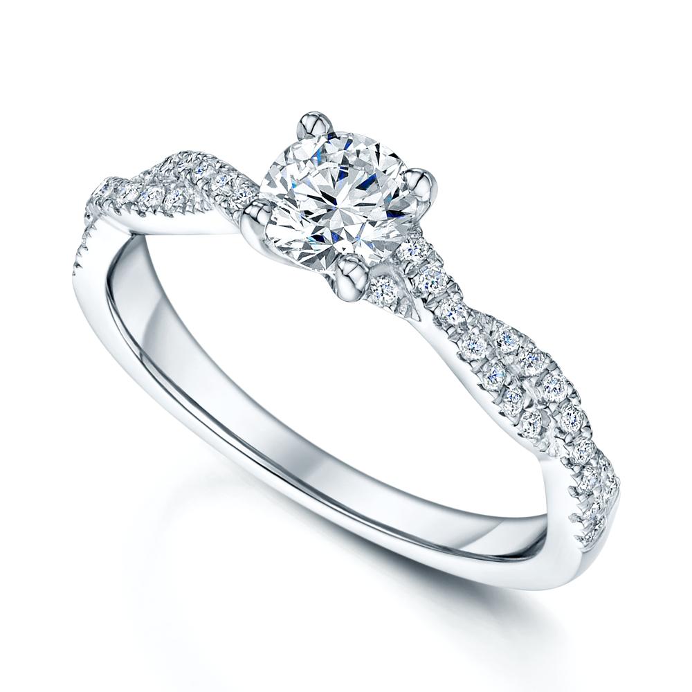 Platinum Set Gia Certified Diamond Ring Matching Wedding Band