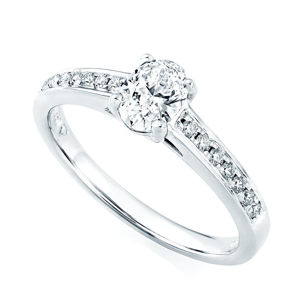 Platinum Engagement Rings Sale Uk: GIA Certified Platinum Set Oval Diamond Engagement Ring