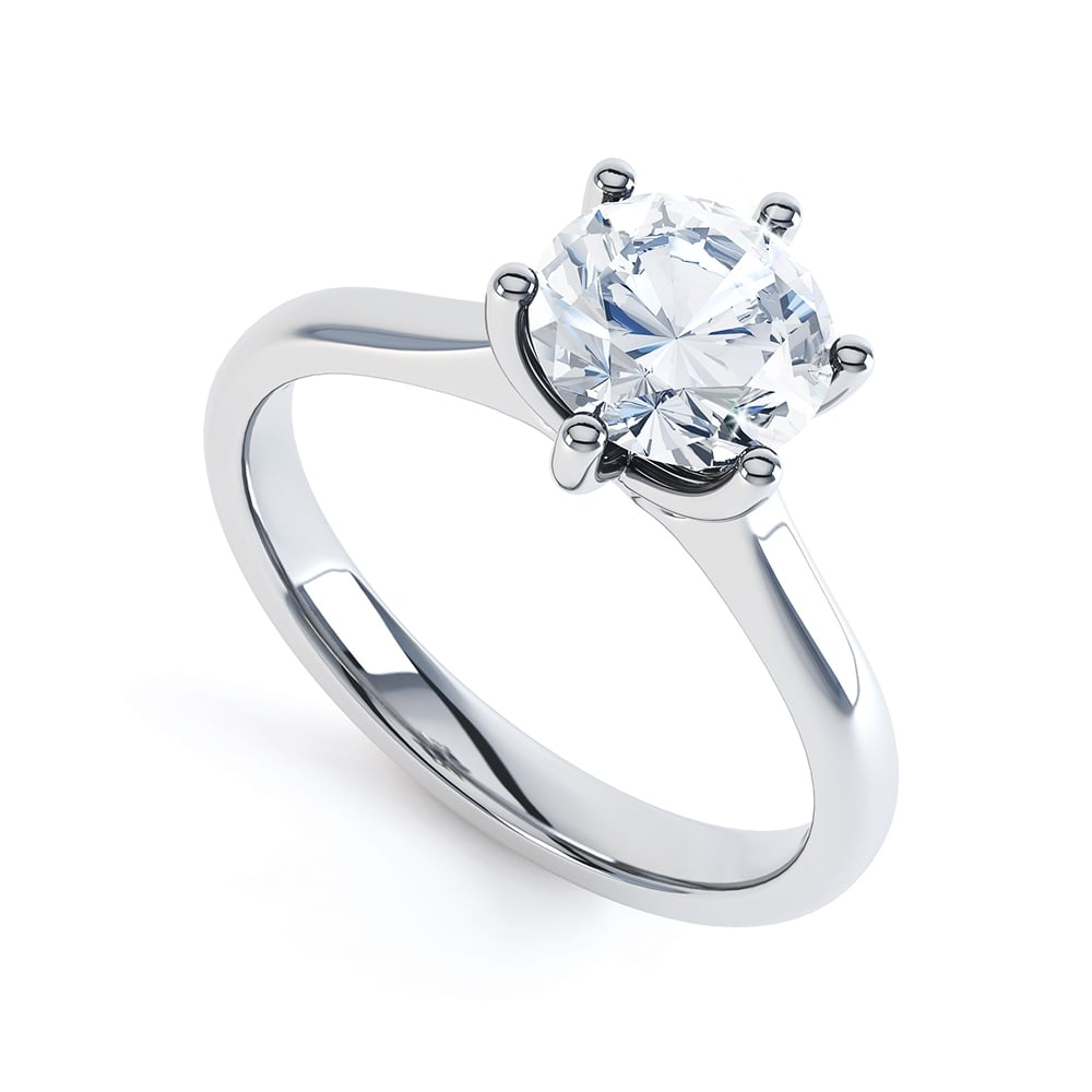 a88484a7a31 Platinum Solitaire Brilliant Cut Diamond Engagement Ring GIA Certified