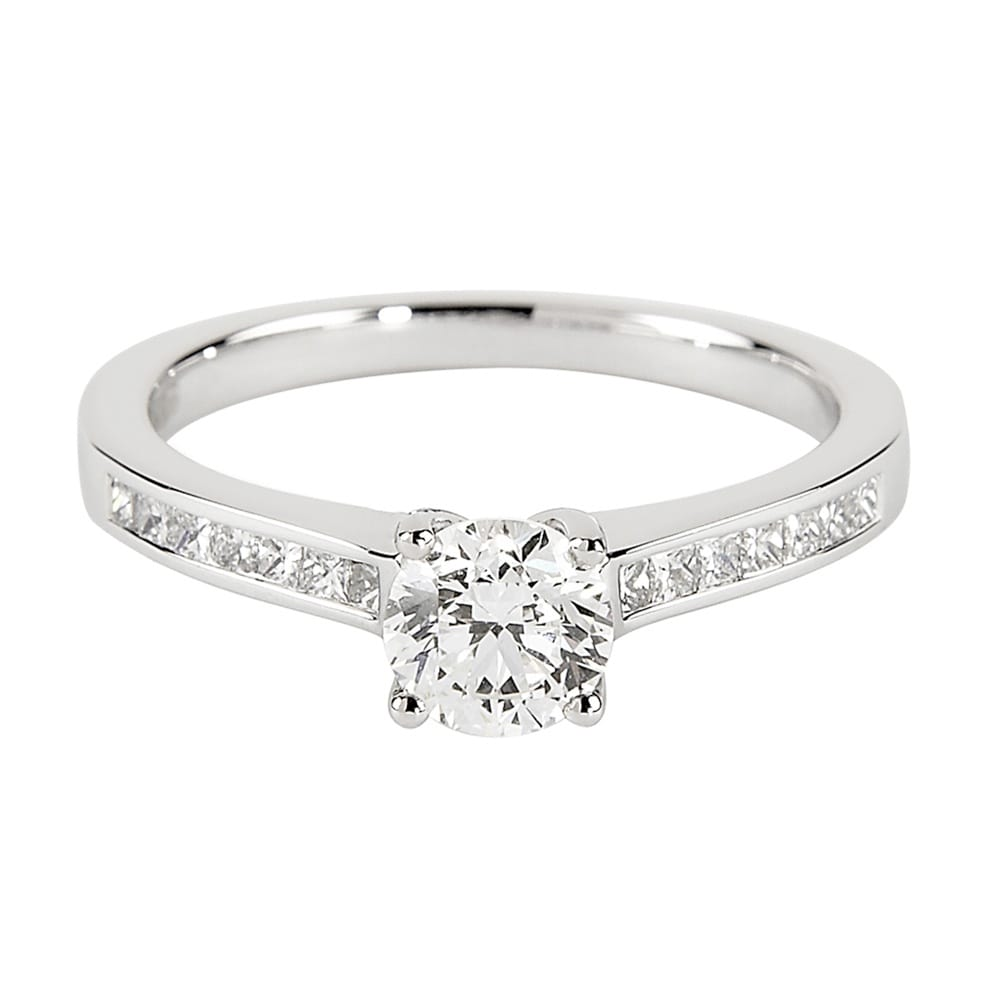 42f0cf568ad Berry s Berry s Platinum Solitaire Brilliant Cut Diamond Engagement Ring  GIA Certified